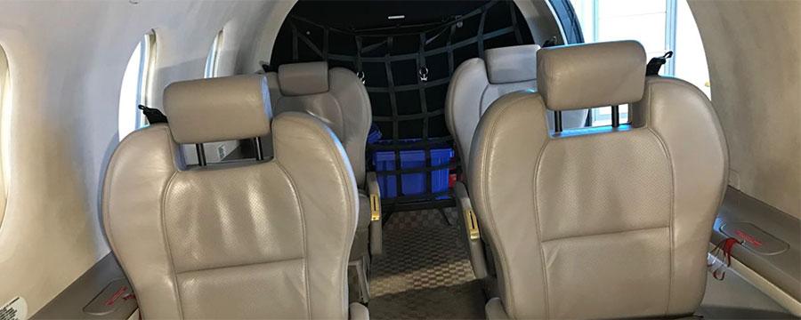Der Innenraum der Pilatus PC 12 wurde ebenfalls komplett gereinigt